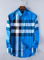 camisas macias da flanela dos homens venda por atacado-Atacado- Camisas Dos Homens Sociais Primavera Marca Formal Não Ferro Camisa de Vestido Sólido Manga Longa de Negócios Moda Camisas Dos Homens Com Button03