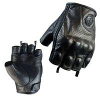 deri motokros eldivenleri toptan satış-Hakiki Deri Yarım Parmak Motosiklet Eldiven Scoyco Yaz Motocross Yarışı Eldiven Keçi Deri Koyun Derisi Moto Bisiklet Eldiven