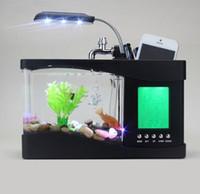 Wholesale Calendar Lamp - Usb USB Mini Aquarium Aquarium fish lamp with creative calendar clock