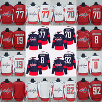 serie del estadio del jersey del hockey al por mayor-8 Alex Ovechkin 2018 Stadium Series Washington Capitals 77 TJ Oshie 70 Braden Holtby 92 Evgeny Kuznetsov Nicklas Backstrom Hockey Jersey