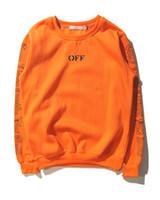 ingrosso abiti neri per gli uomini-Pullover O-collo Pullover O-Collo Uomo V Arancione Nero Felpe Felpe Felpe Tops Autunno Inverno Abbigliamento