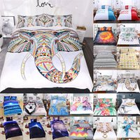Wholesale home textiles online - 3D Printed Bedding Sets set Luxury Duvet Cover Pillowcases Home Bedding Supplies Textiles Christmas Decorative Style WX9