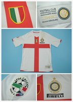 Wholesale 2007 inter white retro short sleeve jerseys YEARS Commemorative Edition IBRAHIMOVIC CLASSIC jersey