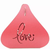 """paper cutting shapes NZ - Pearl Paper Heart Shape Candy Box Gifts Packing Boxes Wedding Marriage Party Favors """"Lover"""" Laser Cut"""