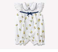 Wholesale penguin clothes - baby clothes summer baby kids climbing romper 100% cotton round collar full penguin print romper kids cute rompers 0-2T