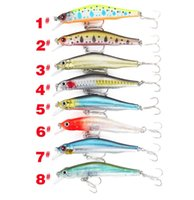 Wholesale Plastic Wobblers - 3D Eyes Floating Laser Minnow Fishing Lures 9.8g 8cm Artificial Hard Wobblers Crankbait Plastic Baits Fishing Tackle Combo