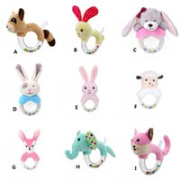 Wholesale Baby Rattle Toys Rabbit Bear Hand Bells for Newborn Months Infant Early Educational Toys Styles
