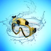dalış maskesi video kamera toptan satış-Dalış gözlük kameralar sualtı 30 M Su Geçirmez HD 720 P spor Dijital PC Kamera Video Dalış Scuba Maske TV DV20 üzerinde Oynamak