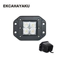 lámpara de haz de luz al por mayor-ECAHAYAKU 2x 3 pulgadas 12W LED Luz de trabajo para el diseño de automóviles Motocicleta Spot / Flood Beam Driving Off-Road SUV ATV Spotlight truck truck