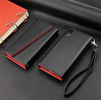 manyetik çıt çanta toptan satış-Sıcak Satış Premium lüks telefon kılıfı Için iPhone X 8 7 6 6 s artı Ayrılabilir Manyetik Snap-PU Deri Cüzdan Kılıfları Kart Yuvası Flip Case Kapak