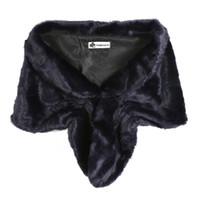 Wholesale rabbit hair shawl for sale - Women Fur Coat Winter Neck Warm Shawl Short Paragraph Faux Fur Coat High grade Mex Rabbit Hair Vest Brand