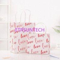 985b888d083 Love Printed Red White Paper Gift Bags Wedding Party Handled Bags Shopping  Boutique Festival Gift Bag QW7802