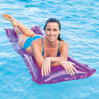 Wholesale inflatable toys materials resale online - Inflatable Swimming Floats Water Mat Pool Toys Swim Floating Bed Summer Beach Waterproof Sleeping Pad Wavy Plastic Material wx Y