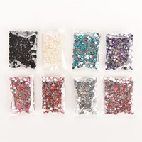 Wholesale round resin stickers for sale - Group buy 1000pcs mm Nail Art Stickers Flatback Crystal AB Facets Resin Rhinestone Sparkling Round Rhinestones Nail Art Decoration