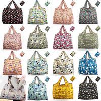 grand sac de rangement pliable achat en gros de-Les sacs à provisions en nylon imperméables écologiques de sac à provisions réutilisable de sac de stockage réutilisable de sacs à provisions voyagent de grande capacité sacs d'épicerie HH7-1111