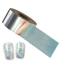 Wholesale glitter nail wraps - 100x4cm Nail Art Transfer Foils New Glitter Laser Glass Foils DIY Full Cover Wraps Nail Sticker Decorations Accessory BL02