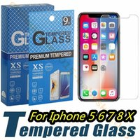 Wholesale 4.7 screen phones online - 2 D mm Tempered Glass Film Screen Protector for iphone Plus X XR XS Max samsung galaxy s6 s7 s8 s9 note smart phone