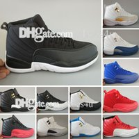 Mens Cheap New Retro 12 Red Flu Game Ano Novo Chinês Taxi Gamma Blue Basketball Shoes Sneakers para Homens Outdoor Sports Shoes Tamanho US 5.5-13