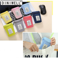 Wholesale cable storage resale online - New System Kit Case Portable Mouse Storage Bag Digital Gadget Devices USB Cable Earphone Pen Travel Cosmetic Insert High Quality ff aa