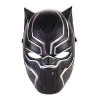 Wholesale silicone latex masks for sale - Black Panther Face Mask Halloween Realistic Men s Latex Party Mask Xmas PVC Cosplay Costume Adults Masquerade Christmas Movie Fantastic
