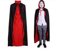 polyester ponçolar toptan satış-Erkekler Için moda Cadılar Bayramı Polyester Panço Cadılar Bayramı Vampir Cloak Grim Reaper Cloak Festivali Ponchos