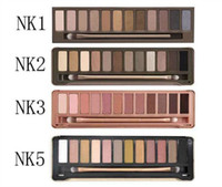 Wholesale top naked - Top Quality !Naked makeup eyeshadow palettes eye shadow pallet 12 color NUDE 1.2.3 decay Makeup Naked Palettes chocolate bar