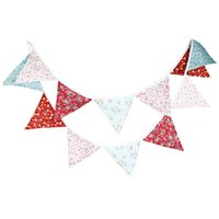 ingrosso bandiere da giardino di nozze-New 3.2M Cotton Red Pink Stampa Garden Arrangement Background Photography Flags Colorful Wedding Party Decorate Decorate Pennant