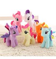 einhorn-spielzeug großhandel-DHL-freies neues Einhorn Plüschtier 20cm Plüschtier My Toy Collection Edition Plüsch senden Ponies Spike Spielzeug als Geschenke für Kinder