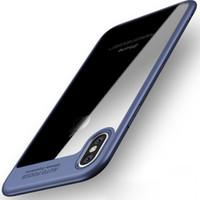 enfoque cubre al por mayor-Para iPhone XS MAX XR X 6 7 8 Plus Utral Thin Soft TPU PC Hard Back Case Auto Focus Transparente cubierta del teléfono