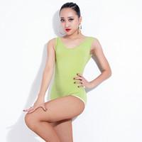 traje de leopardo bodysuit venda por atacado-Mulheres Sexy Dança Latina Leopard Print Costume Bodysuit Tops Roupas de Tango Ou Salão de Dança de Boas Práticas de Desgaste DWY902
