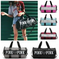 Wholesale Art Prints Large - Pink Girl Travel Duffel Bag Letter Printed Women Travel Business Handbags Outdoor Sports Beach Large Shoulder Bag OOA4227