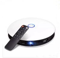 домашние 3d-проекторы оптовых-Android 6.0 портативный 3D LED проектор LCD мультимедиа Home Cinema HD проекторы HDMI USB AV TV 1080P full hd Proyector проектор LLFA