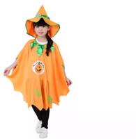 roupa das crianças frete grátis venda por atacado-Dia das bruxas roupas infantis cosplay bruxa bruxa manto disfarce desempenho traje bruxa manto bonito engraçado frete grátis