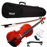 Wholesale kit outfit for sale - Group buy Violin Full Size Acoustic Fiddle with Outfit Kit for Starters Beginnners Kids Students