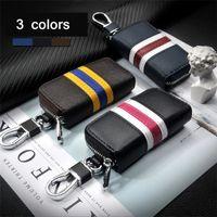 hyundai araba uzaktan kumandaları toptan satış-3 Renk Deri Araba Uzaktan Çevirme Anahtarlık Kabuk Kapak Kılıf Araba anahtarı Honda / TOYOTA / Volkswagen / Hyundai / Buick / Ford için uygun kapakları