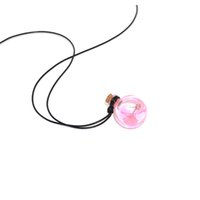 Wholesale glass aroma diffuser - 5ml Aroma bottle Essential Oil Diffuser Necklace DIY jewelry mini glass essential oil bottle pendant,Wishing Bottles Vials With Cork