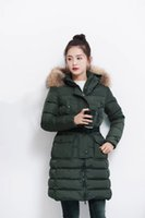 Wholesale Fur For Hood - M449 Ladies parkas for women winter famous jacket anorak women coats with real fur hood parka women jackets