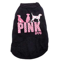 Wholesale Classic Hot Dog - Casual Dog Clothes English Letter Printing Puppy Vest Pink Universal Spring Summer Pet Shirt Hot Sale 6 18cy BC