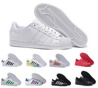hologram ayakkabıları toptan satış-Klasik Süperstar Beyaz Hologram Yanardöner Junior Süperstars 80 s Pride Sneakers Süper Yıldız Kadın Erkek Moda Açık Yürüyüş ayakkabı 36-45