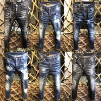 klassische italienische mode großhandel-Italienische Marke Männer Jeans 2018 neue Mode hochwertige Herren Designer klassische Jeans Luxusmarke Hose Herrenmode D2 Jeans