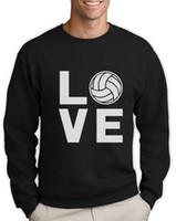 волейбольные толстовки оптовых-Love Volleyball - идеальный подарок для любителей волейбола Толстовка Новинка Идея подарка