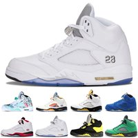 9cdfe2c3bbc4 2018 New 5 5s Wings International Flight Mens Basketball Shoes Red Blue  Suede Hornets Prem HC men sports sneakers designer trainers 7-13