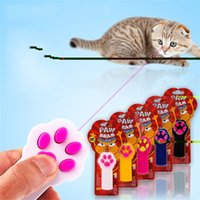 Wholesale play exercise - Teasing Cat Toys Pet Dog Interactive Automatic Red Laser Pointer Exercise Indicator Play Paw Beam Funny Most Cheap 7 5sn V