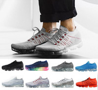 Wholesale Best Casual Shoes For Men - 2018 with box Rainbow VaporMax University Red Men Woman Shock Running Shoes For best Quality Fashion Men Casual VaporMaxes Sports Sneakers