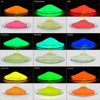pintura resistente al por mayor-Resplandor en la oscuridad Pigmento para pintura de automóviles Polvo fotoluminiscente Arte resistente Polvo luminoso