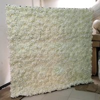 ingrosso supporto fiore nero-Moda fiore muro di nozze con stand nero di ferro piegato tubo cornice del fiore per la decorazione della festa nuziale forniture