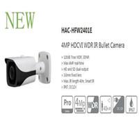 dahua hd bullet toptan satış-Ücretsiz Kargo DAHUA CCTV Güvenlik Açık Kamera 4MP TAM HD HDCVI WDR IR Bullet Kamera Akıllı IR IP67 Logo Olmadan HAC-HFW2401E