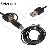 Wholesale android laptop camera resale online - Gizcam m mm Lens USB Micro USB Type C Endoscope Widely Used Inspection Video Camera Camcorder for Android Phone PC Laptop