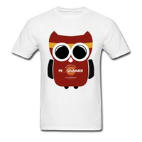 búho lindo t shirts al por mayor-Owl Programmer T shirt Cute Picture Custom Top Camisetas Pure Cotton O-Neck Men Tops Camisetas Brand New Top T-shirts Well Chosen