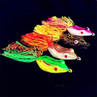 worm fishing lures 2018 - Soft Rubber Ray Frog Hollow Body Blackfish Fishing bait 5.5cm Mix color simulation Frog Lure Must hook